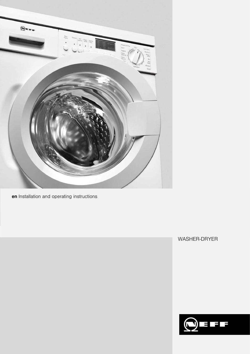 neff v6320x0gb user manual 32 pages rh manualsdir com neff washing machine support neff washing machine w5420x0gb manual