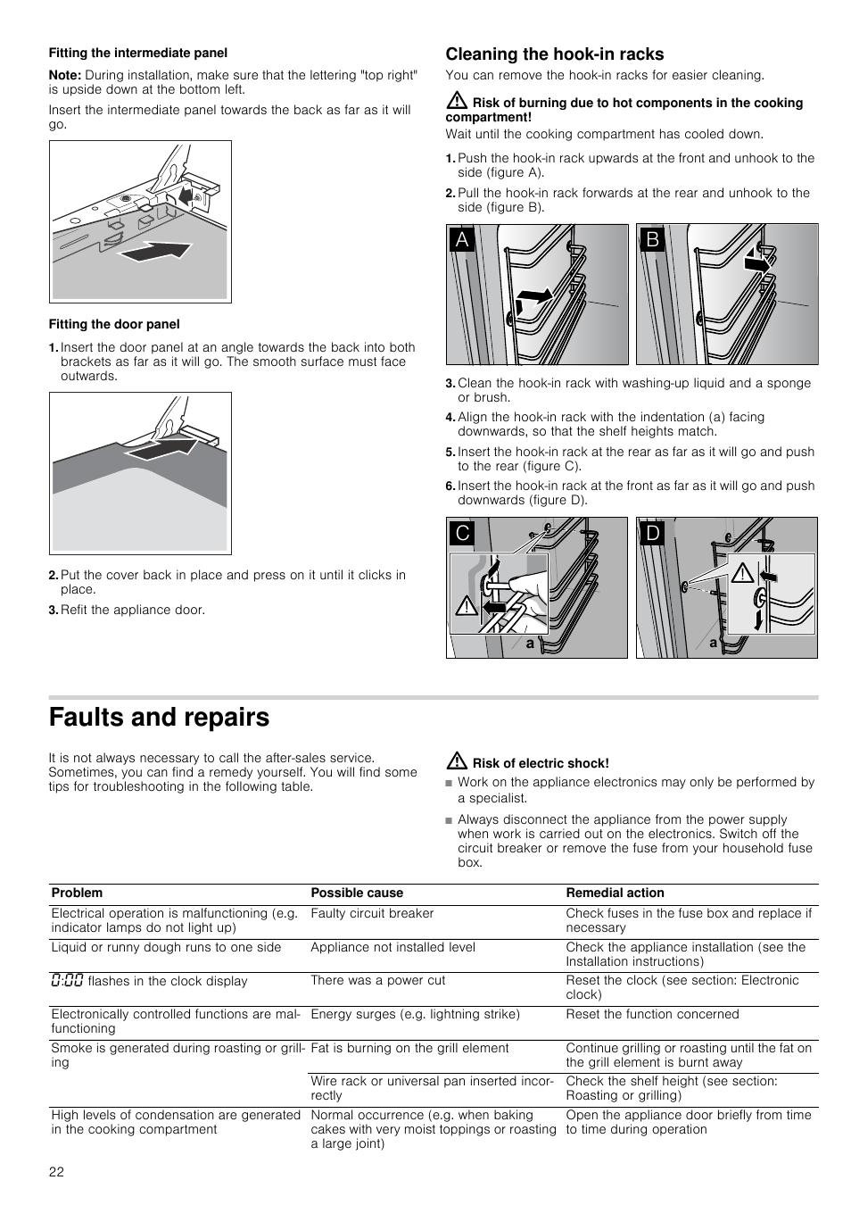 fitting the intermediate panel note fitting the door panel neff rh manualsdir com neff u15m52n3gb installation instructions Socket Wiring Diagram