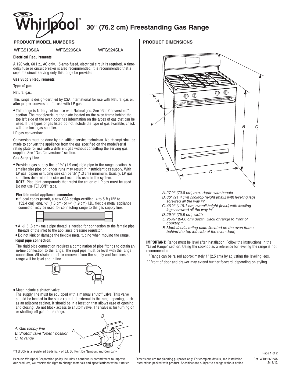 whirlpool wfg510s0as user manual 2 pages also for wfg520s0as rh manualsdir com whirlpool oven manual fxvm6 whirlpool oven manual ikea