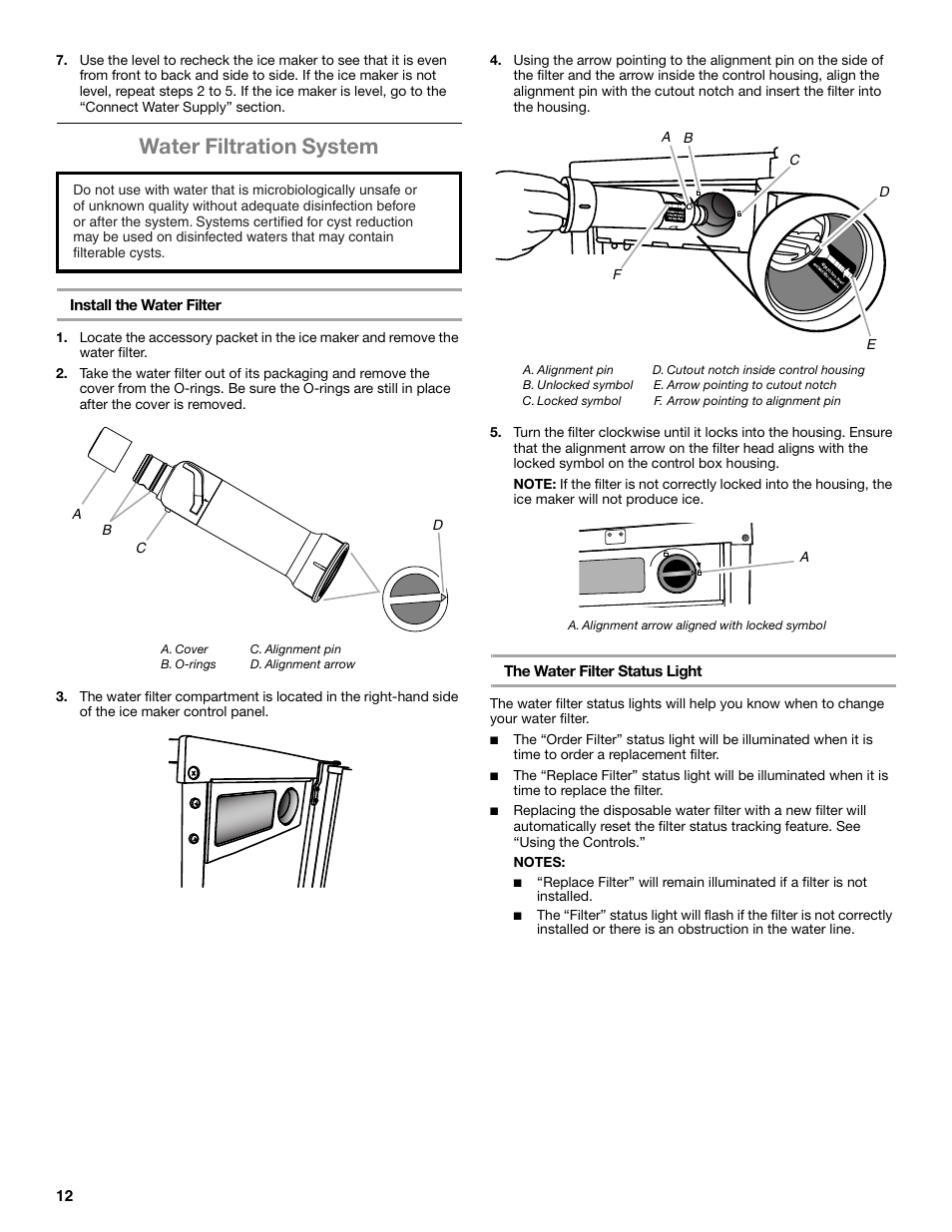 Water filtration system | Whirlpool GI15NDXZS User Manual