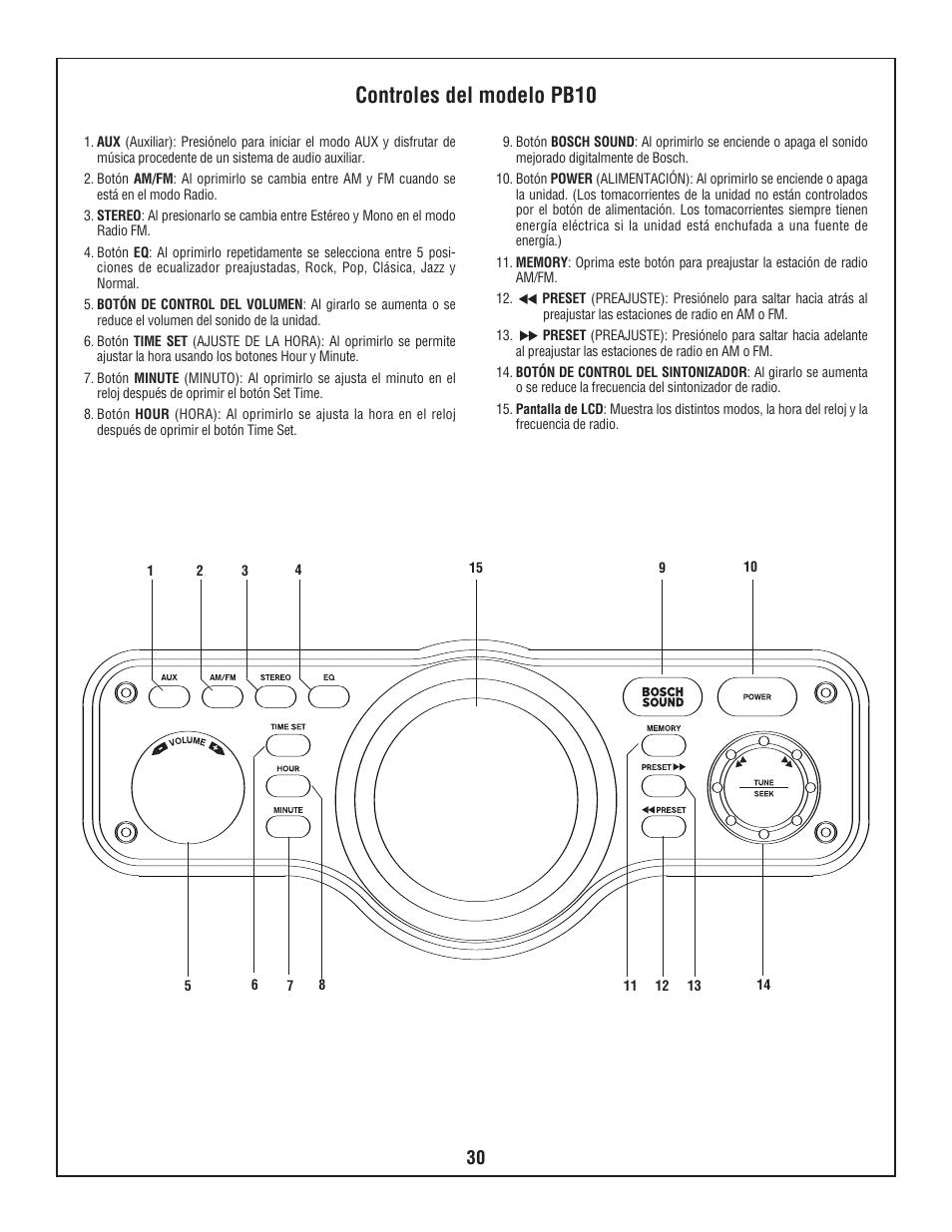 controles del modelo pb10 bosch pb10 cd user manual page 30 40 rh manualsdir com cd4820 user manual cd4820 user manual