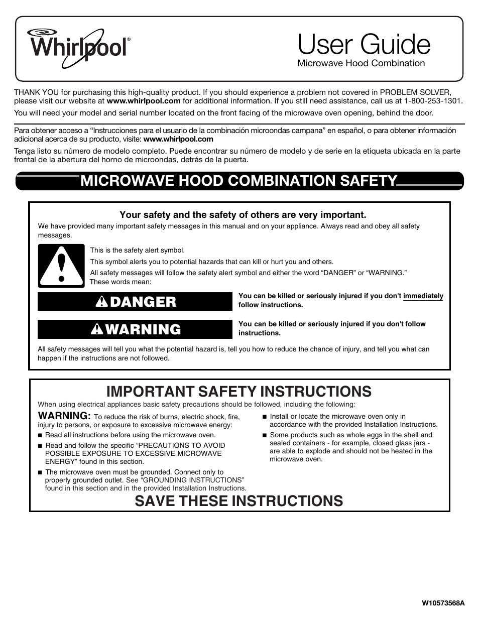 Whirlpool Wmh76719cs User Manual 8 Pages