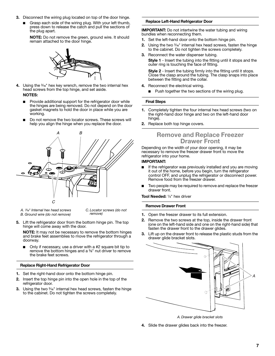 Remove And Replace Freezer Drawer Front Whirlpool Wrf991boom User Wiring A Plug Top Manual Page 7 108