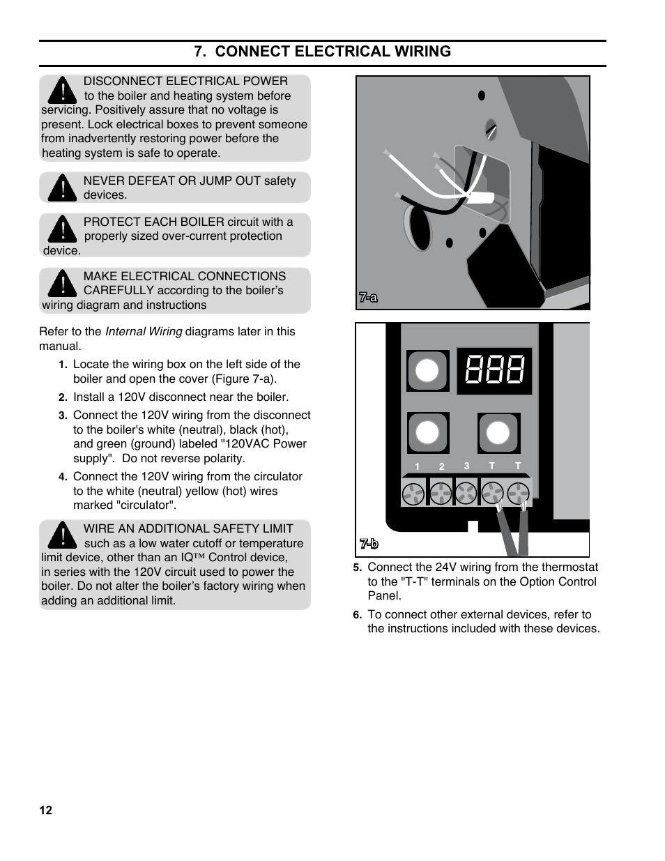 Connect Electrical Wiring Burnham Es2 User Manual Page 12 52 Boiler Diagram