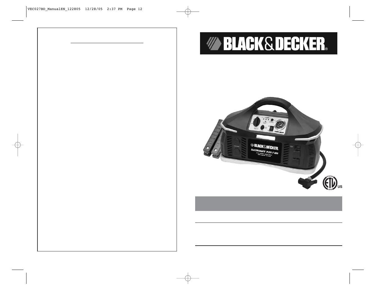 black decker customer service