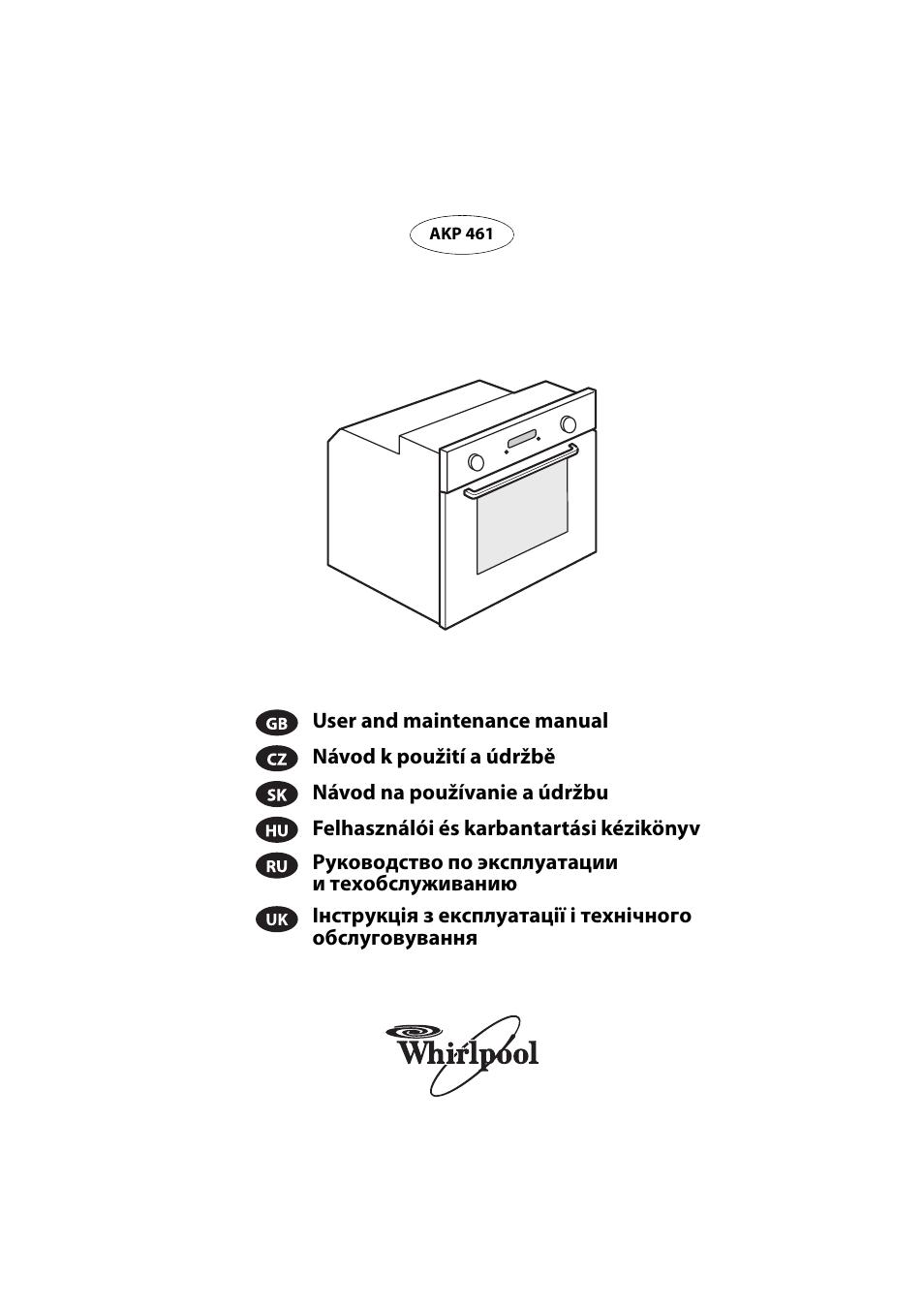 Whirlpool Akp 461 Wh User Manual