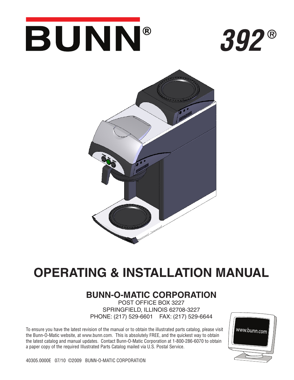 Bunn 392 User Manual 8 Pages O Matic Wiring Diagram