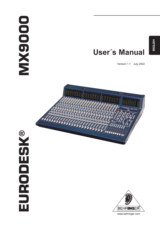 behringer mx9000 user manual 57 pages rh manualsdir com behringer mx9000 manual pdf behringer mx9000 review