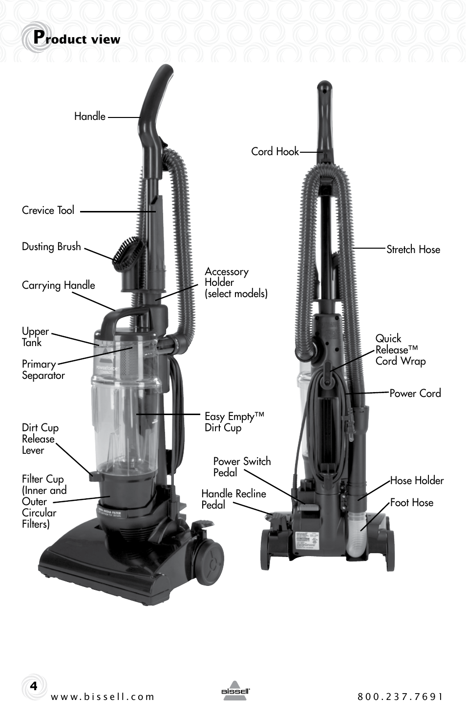 Bissell Powerforce Compact 23t7 Series User Manual Page border=