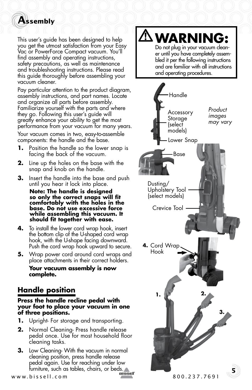 Bissell Vacuum Cleaner User Manuals