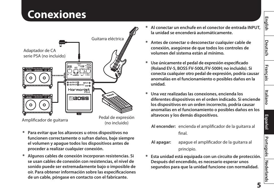 boss audio manuals enthusiast wiring diagrams u2022 rh rasalibre co Boss Harmonizer Used Pedal Boss PS 6