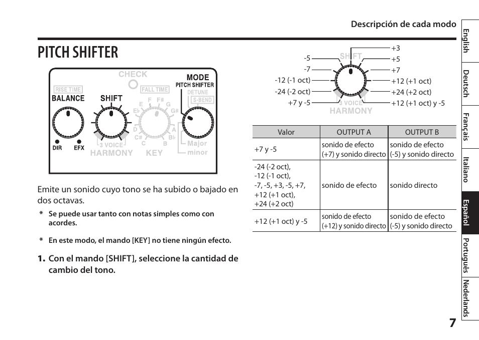 pitch shifter boss audio systems harmonist ps 6 user manual page rh manualsdir com boss ms 3 user manual boss dd 6 user manual