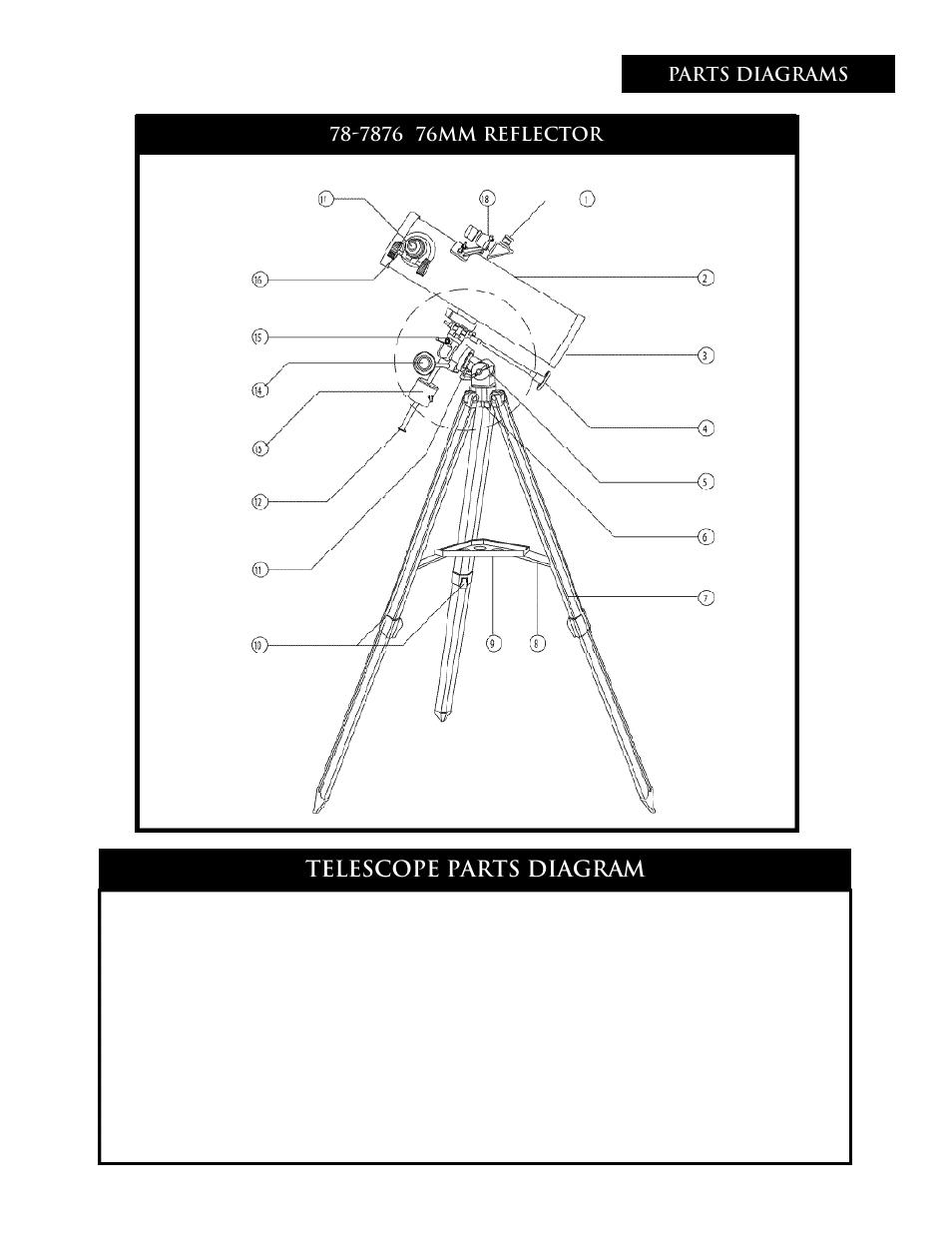 Telescope Parts Diagram