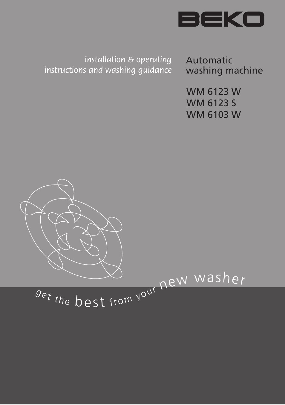beko wm 6123 s user manual