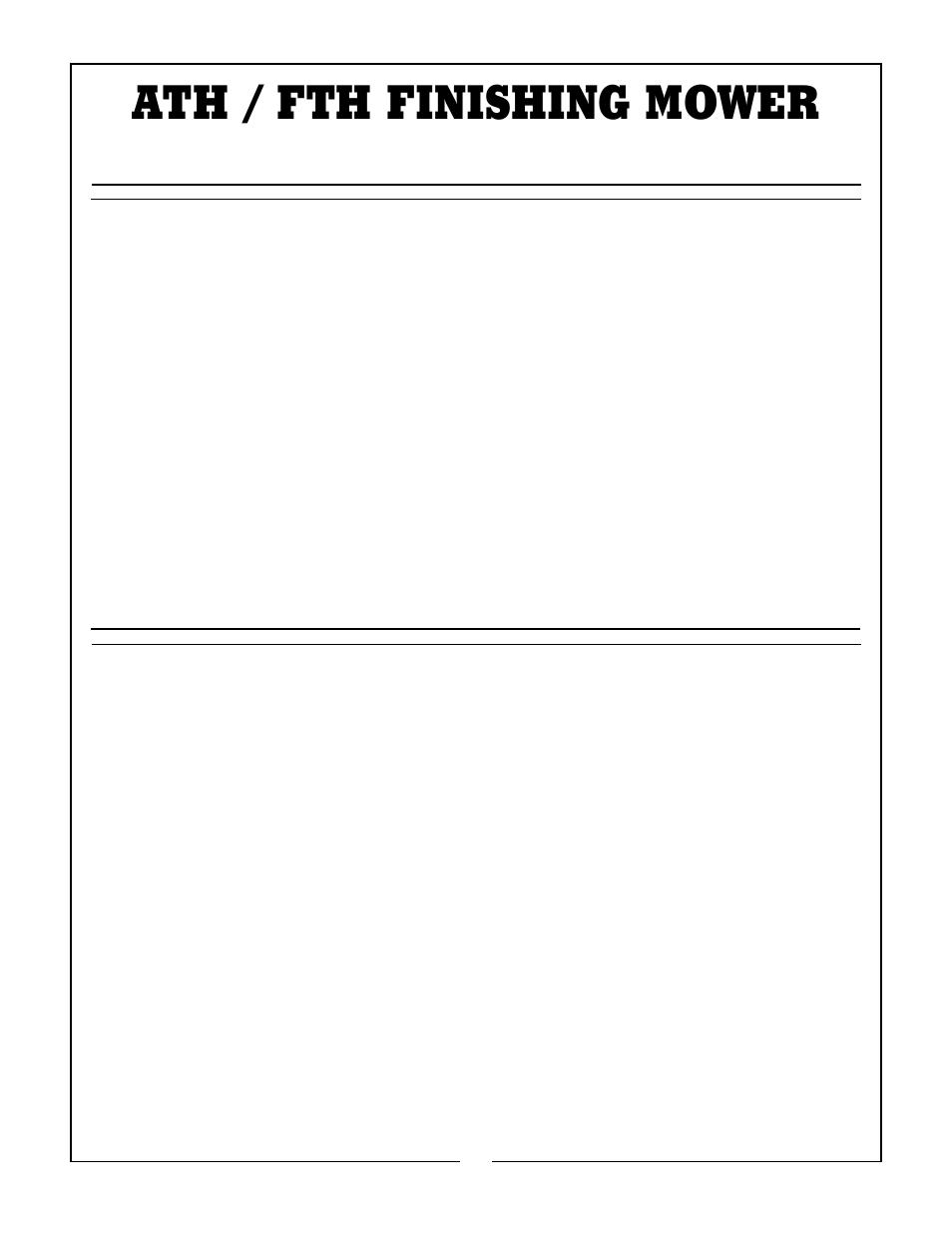 Bush Hog FTH 600 User Manual | Page 3 / 20 | Original mode