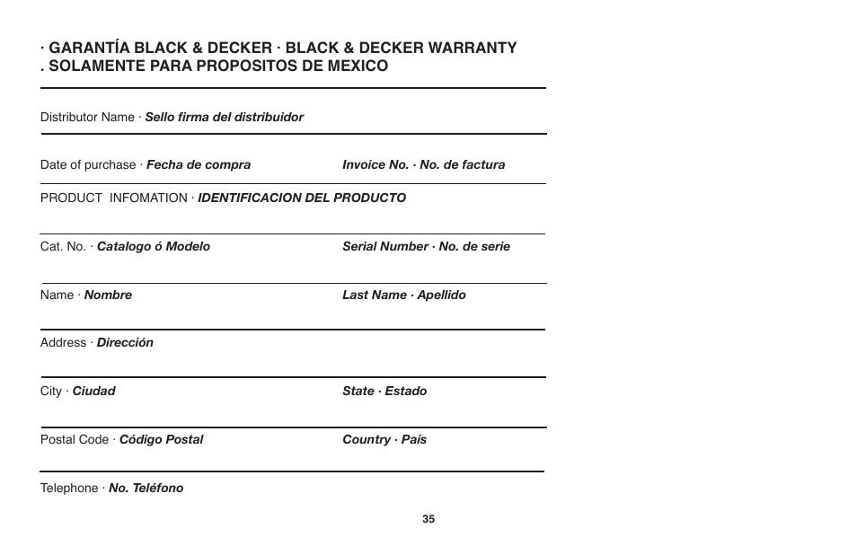 Black & Decker GH710 User Manual | Page 35 / 37 | Original mode