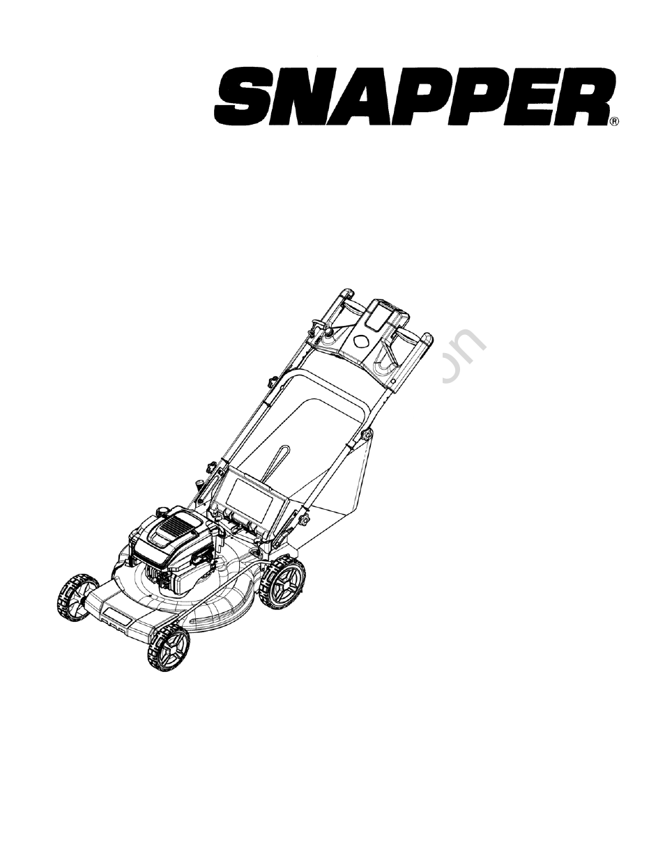 Briggs  U0026 Stratton Snapper 7800722 User Manual