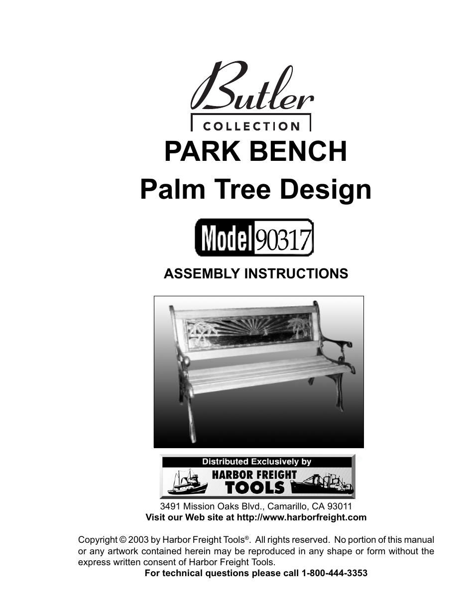 Butler 90317 User Manual 5 Pages