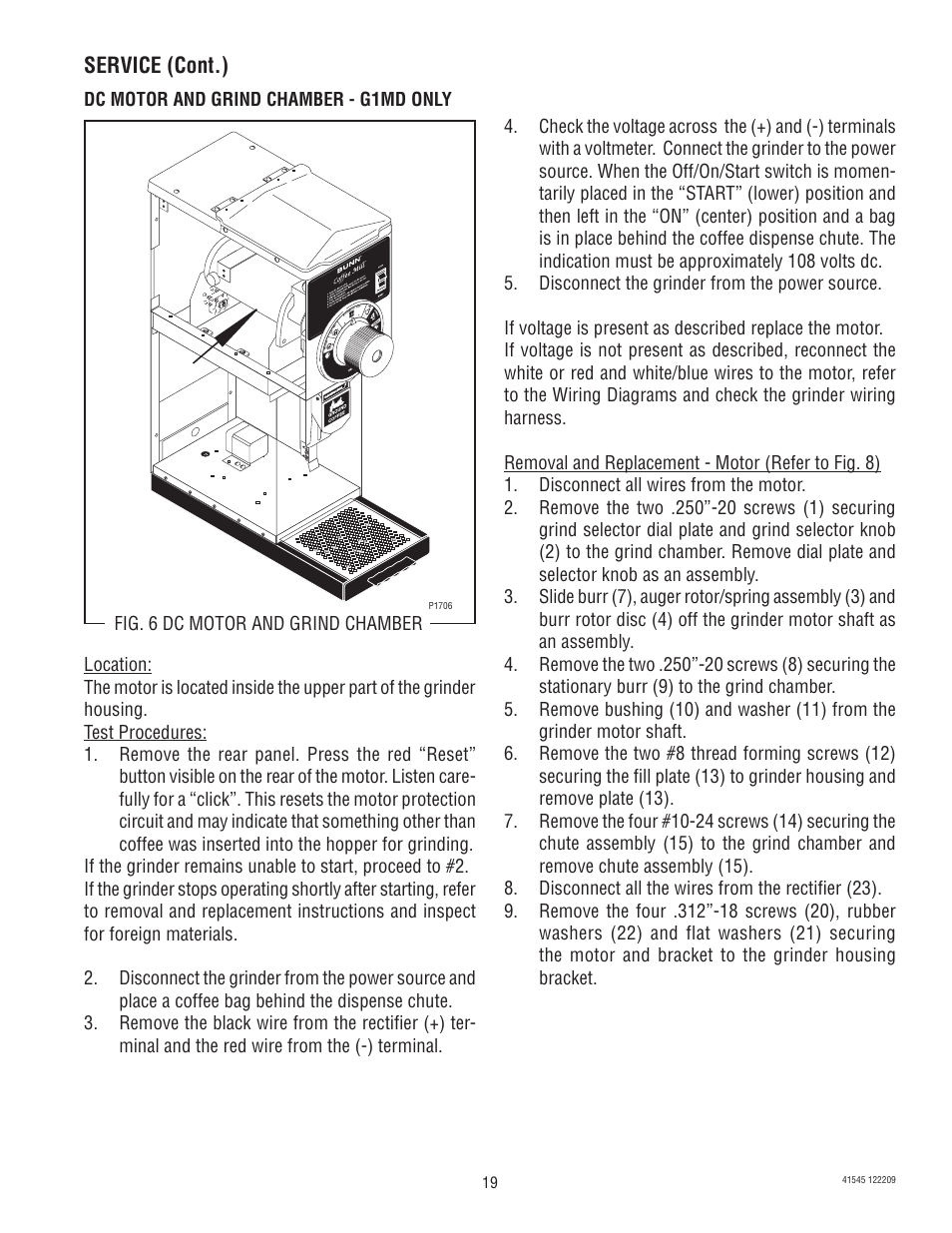 Bunn G9 2t Dbc User Manual Page 19 79 Also For Fpg Lpg 2 G2 Grinder Wiring Diagram Trifecta G9wd