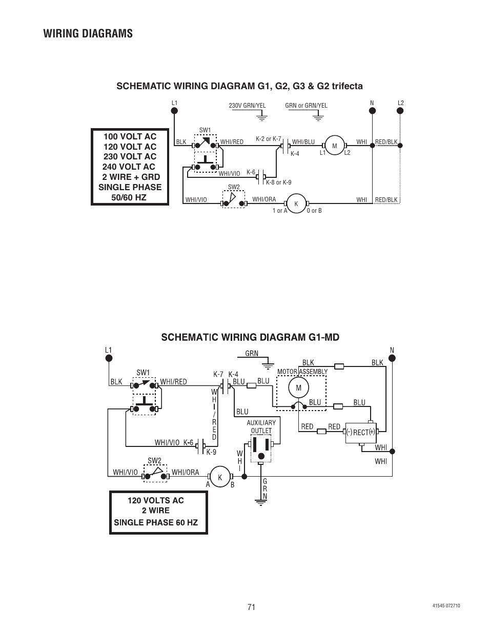 Wiring Diagrams Bunn G9 2t Dbc User Manual Page 71 79 Single Diagram