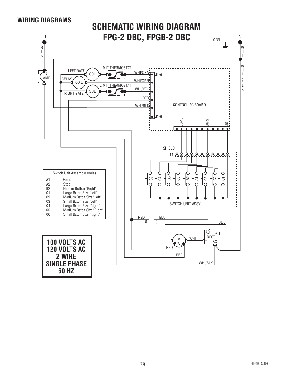 bunn g9 2t dbc page78 schematic wiring diagram fpg 2 dbc, fpgb 2 dbc, wiring diagrams g9 wiring diagram at edmiracle.co