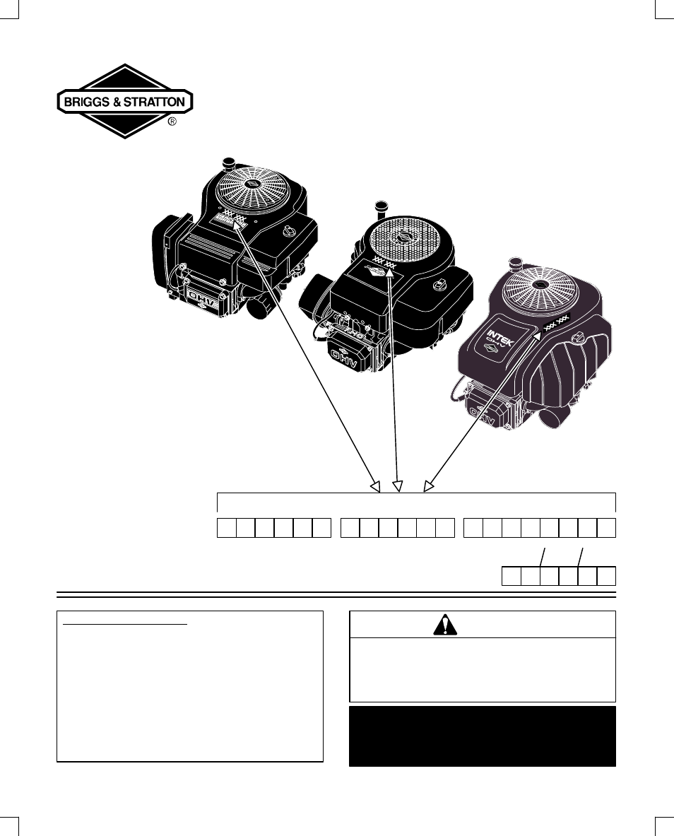 Briggs Stratton 28n700 User Manual 20 Pages Also For 28p700 Replacement Parts Diagram And List All 28s700 28q700 312700 313700