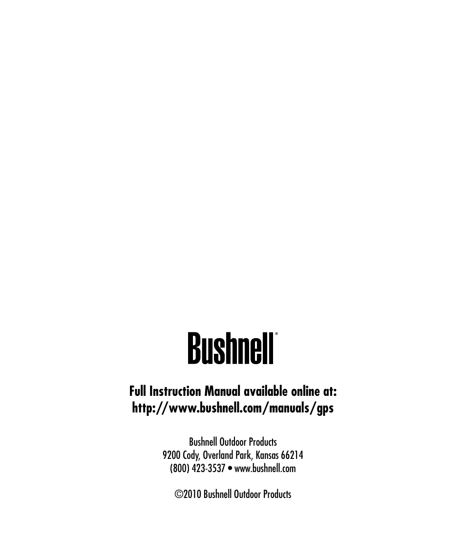 Bushnell Backtrack 360053 User Manual | Page 12 / 12 | Also for: 360055,  360051, 360052