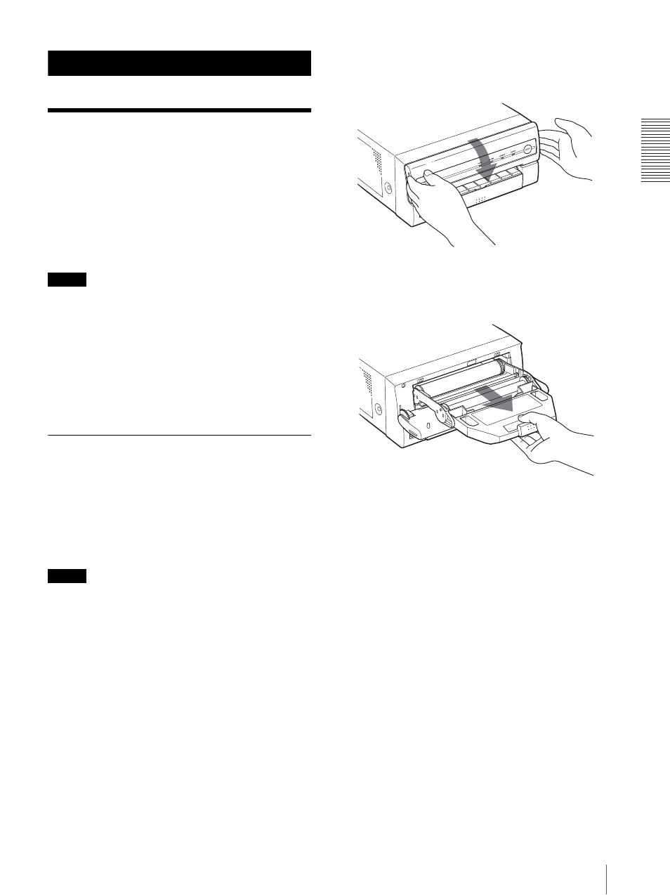 operation before printing loading an ink ribbon cartridge sony rh manualsdir com Sony Wireless Headphones Manual Sony Owner's Manual Online