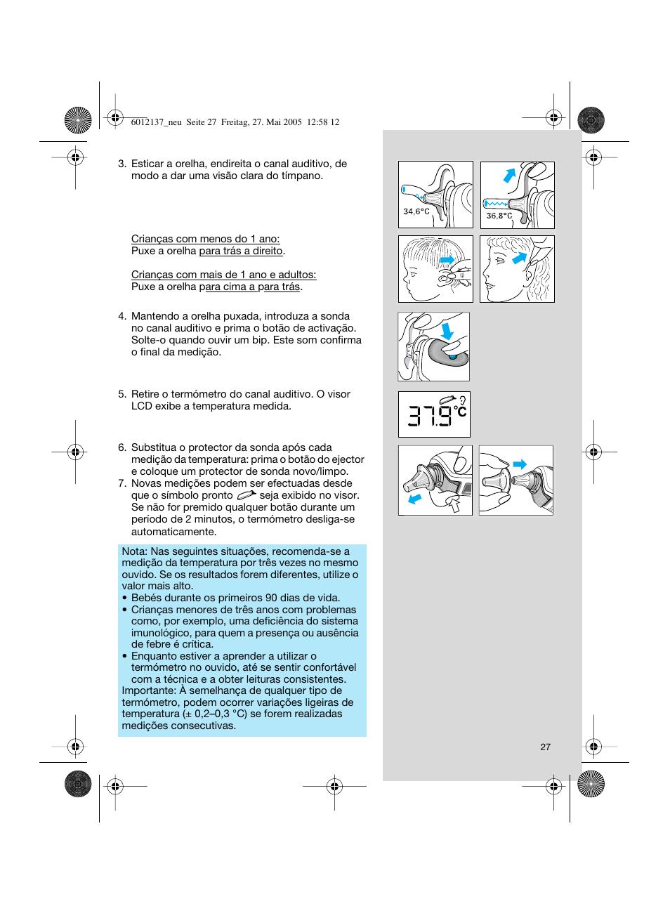 braun thermoscan irt 3020 user manual page 27 48 original mode rh manualsdir com Braun Thermometer Manual braun thermoscan irt 3020 mode d'emploi