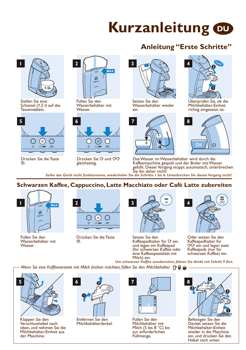kurzanleitung anleitung u201cerste schritte philips senseo machine rh manualsdir com  philips senseo manual pdf
