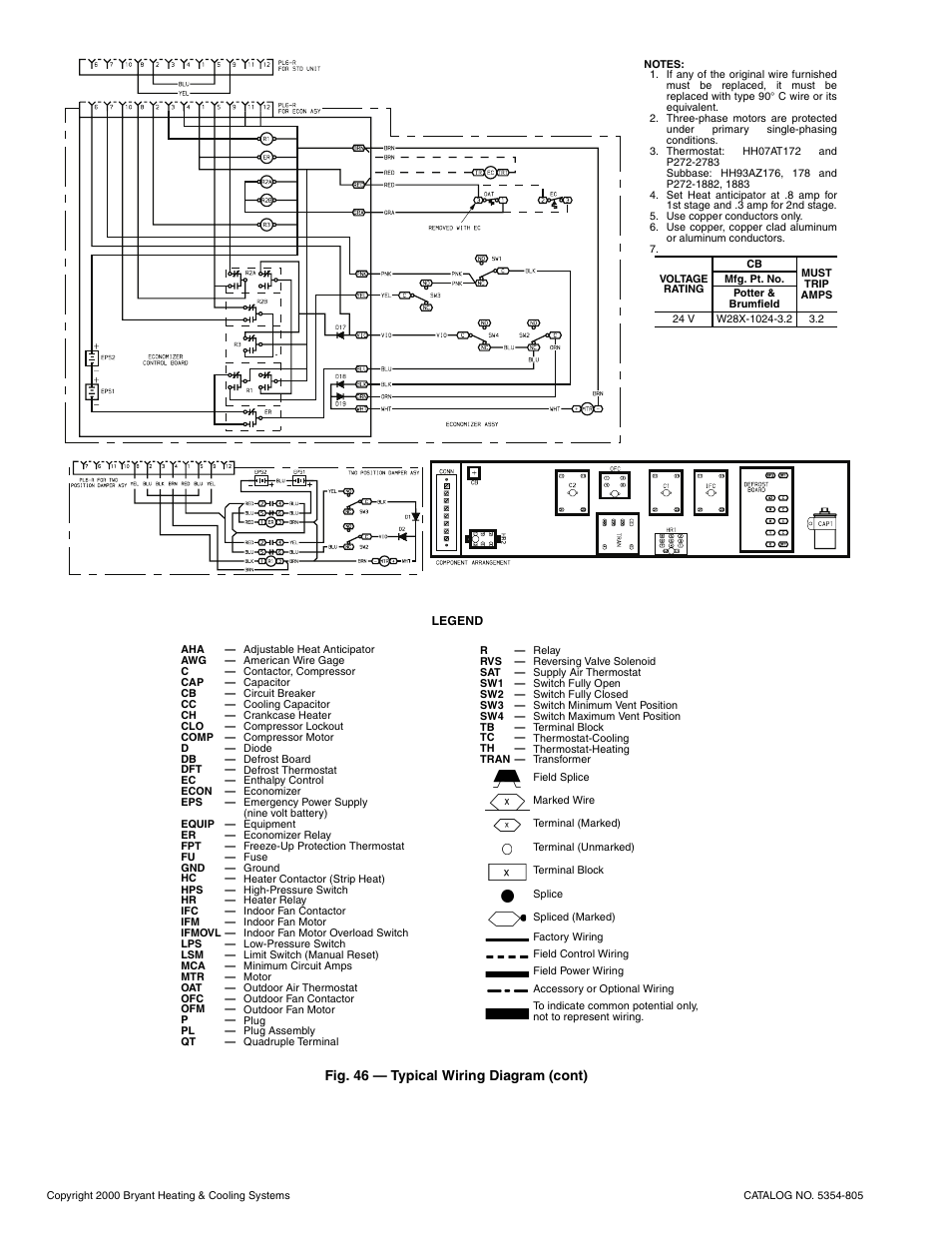 Fig 46 Typical Wiring Diagram Cont Bryant 548d User Manual Cooling Valve Page 38 40