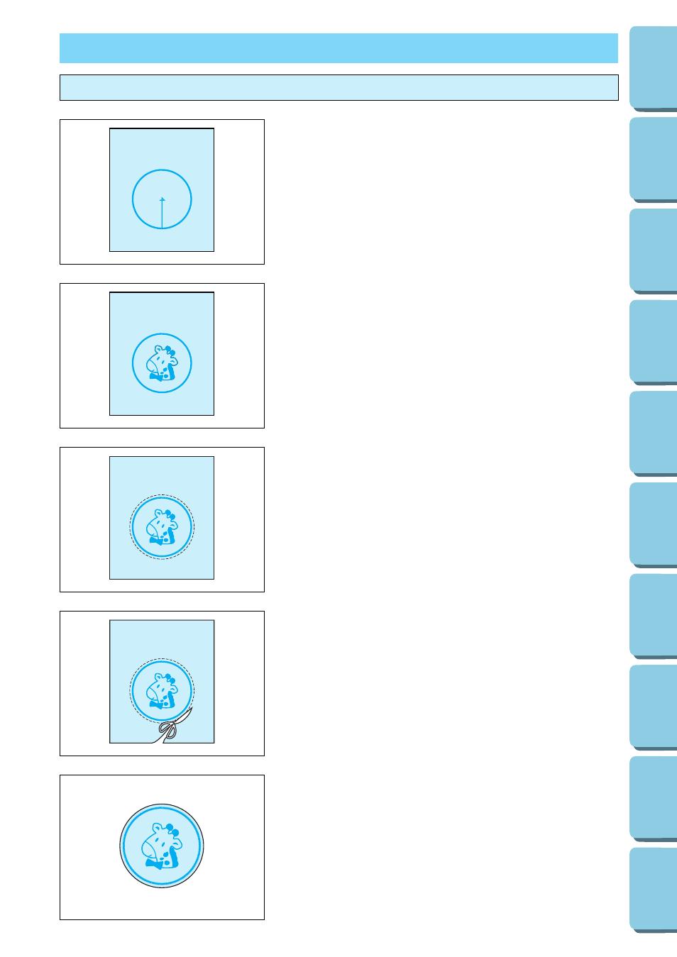 Bordado de aplicaciones, Combinación de marcos de bordado con un ...