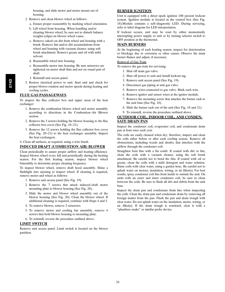 Bryant 574d User Manual Page 24 32 Control Of The Motor Speeds