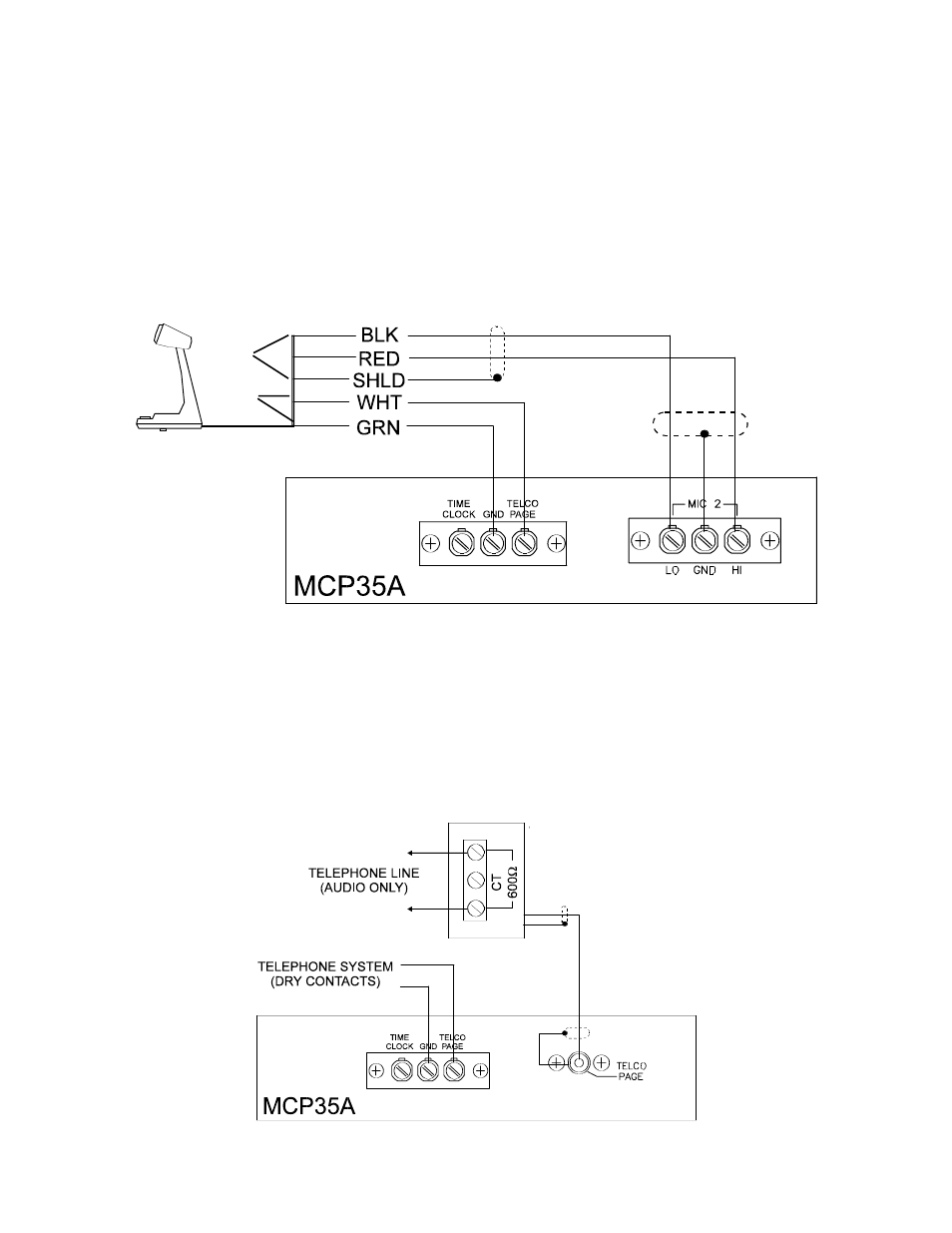 Advanced hook-ups, External emergency mic, Emergency telco page | Bogen  SI35A User Manual | Page 13 / 24