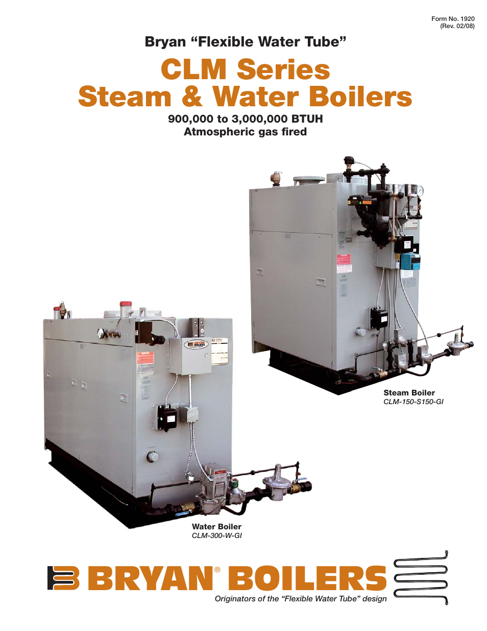 bryan boilers clm 150 s150 gi user manual 4 pages also for clm