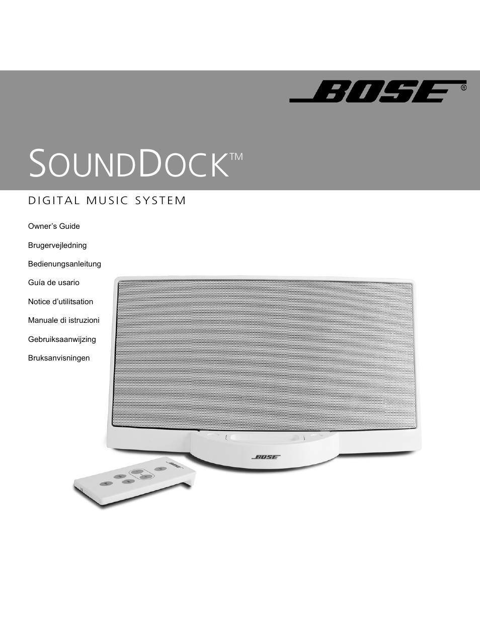 bose sounddock user manual 72 pages original mode rh manualsdir com bose sounddock 2 user manual bose sounddock iii user manual