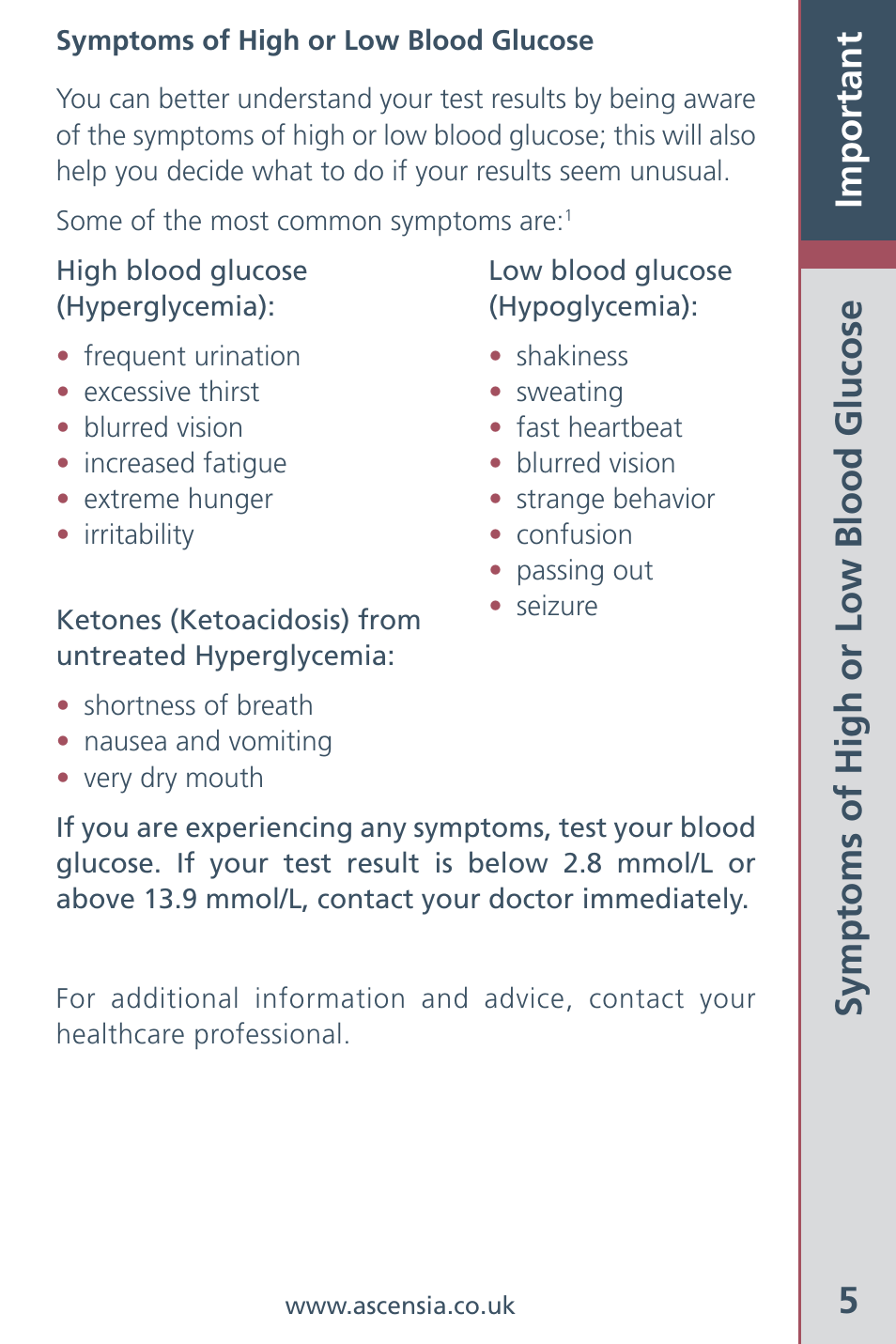 5important symptoms of high or low blood glucose bayer healthcare rh manualsdir com Instruction Manual Example User Manual Template