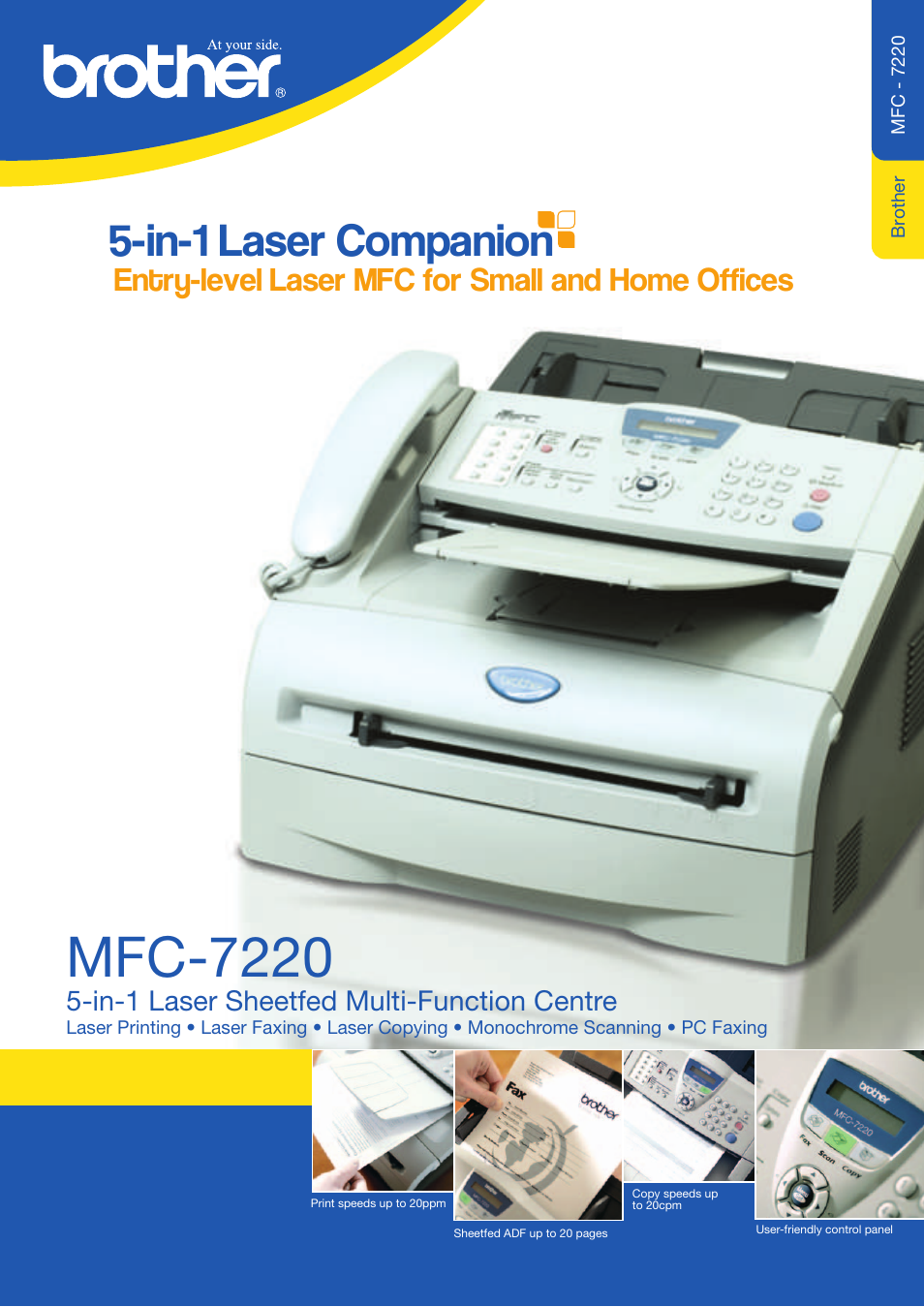 Brother mfc-7220 user manual   2 pages.
