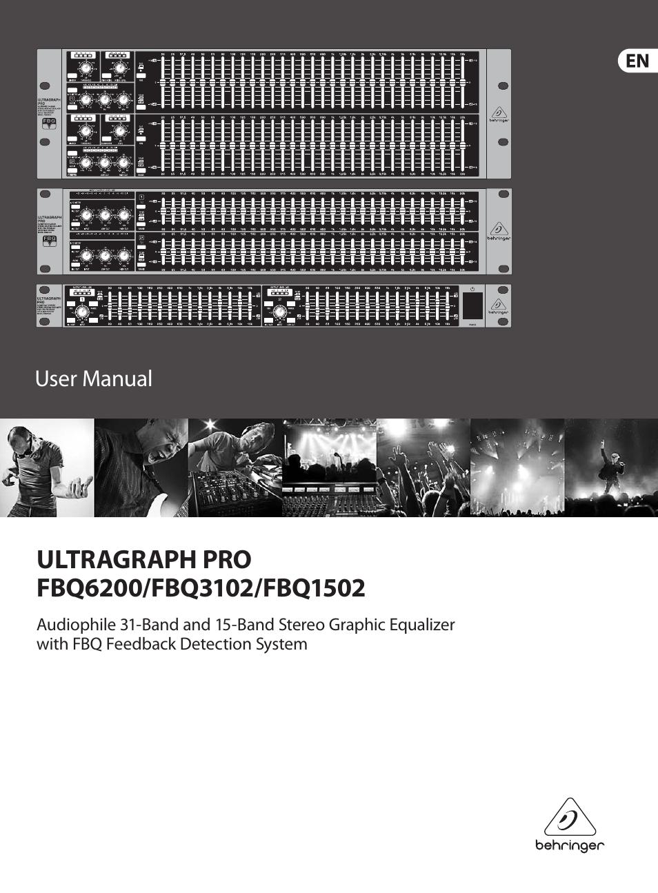 Behringer Fbq6200 Fbq3102 Fbq1502 User Manual 14 Pages 221510 Band Stereo Graphic Equaliser