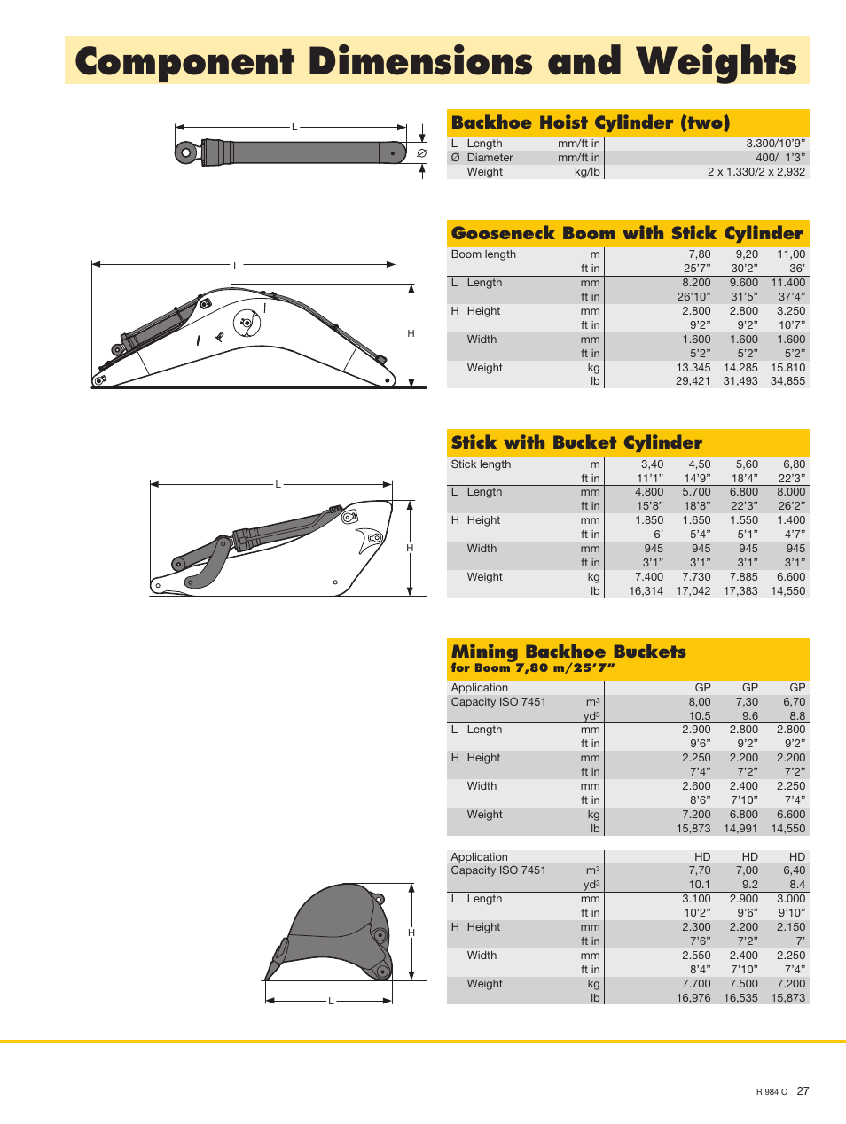 component dimensions and weights  backhoe hoist cylinder  two   gooseneck boom with stick hp 12c manual decimal places hp 12c manual how to change comma to decimal