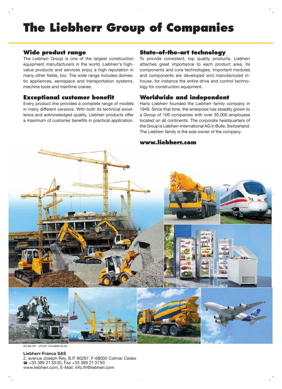 The liebherr group of companies | Liebherr R 9350 User