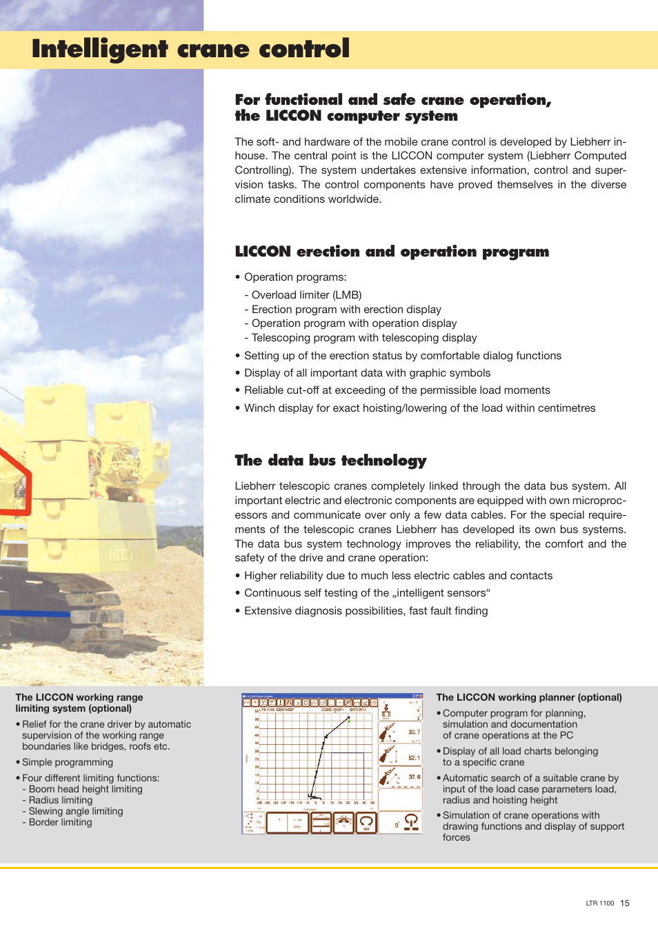Intelligent crane control, Liccon erection and operation program, The data  bus technology | Liebherr LTR 1100 User Manual | Page 15 / 16