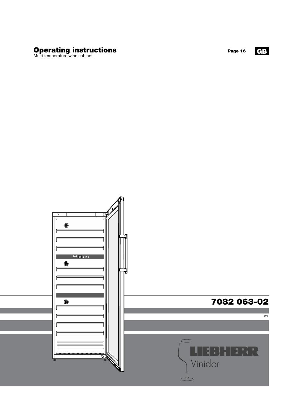 liebherr wtes 5872 vinidor user manual 15 pages. Black Bedroom Furniture Sets. Home Design Ideas