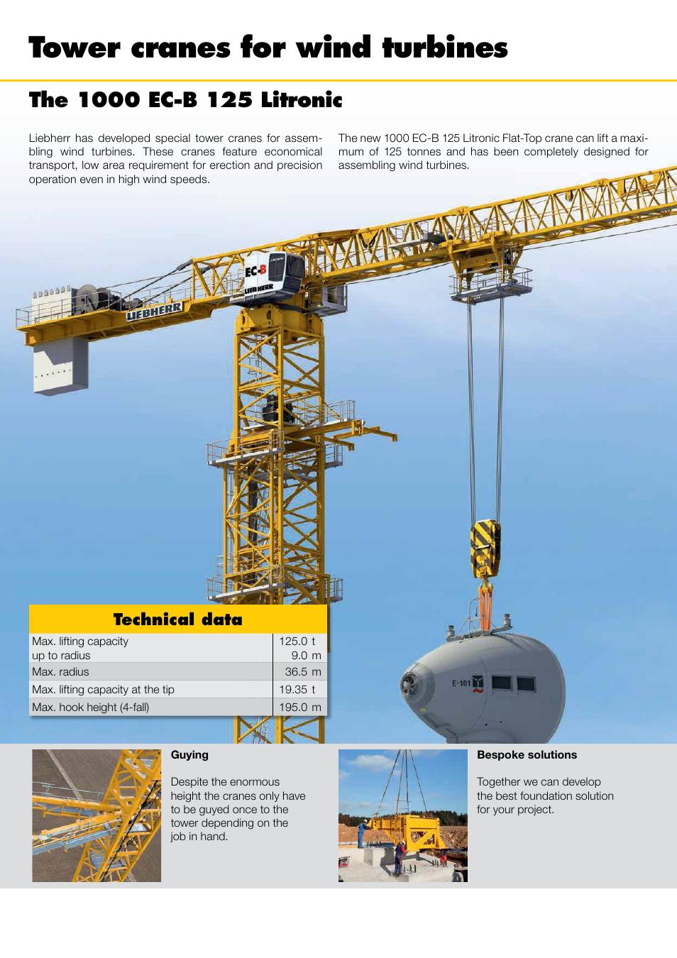 tower cranes for wind turbines technical data liebherr 1000 ec b rh manualsdir com Liebherr Tower Cranes Specifications Liebherr Self-Erecting Tower Crane