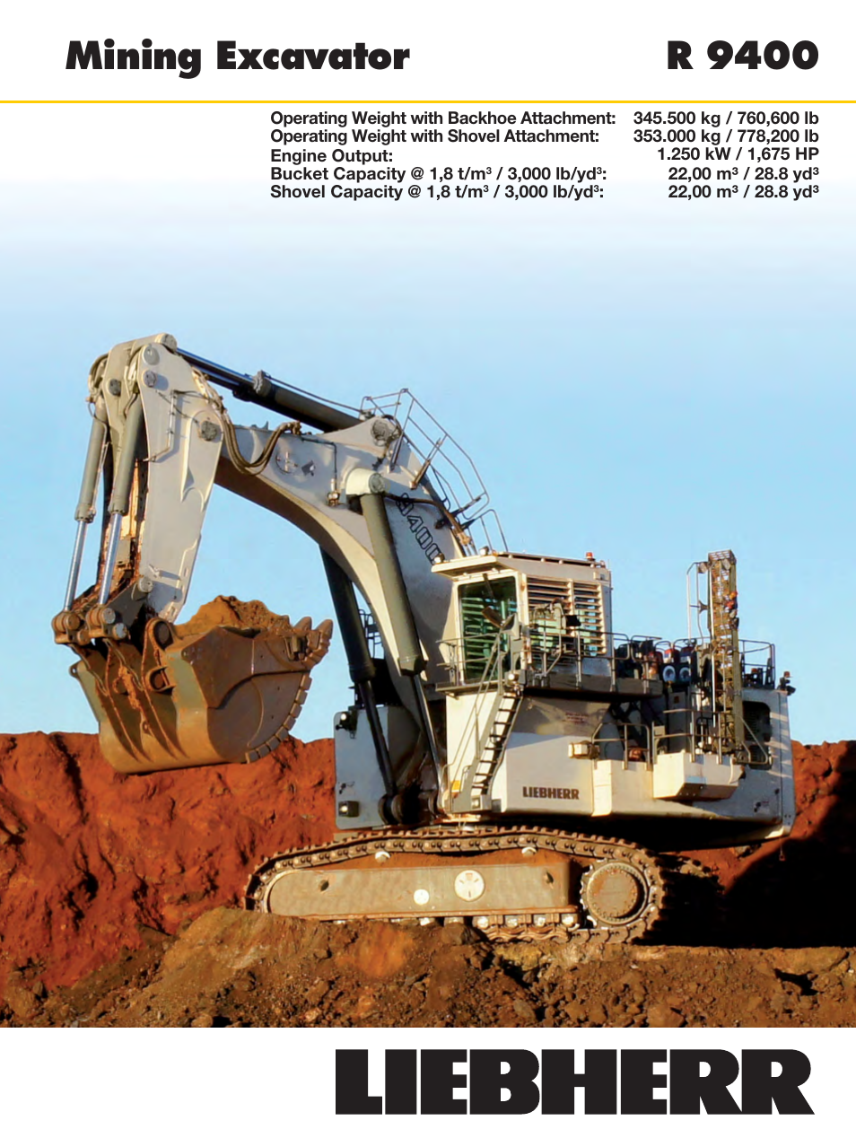 Liebherr R 9400 User Manual   22 pages