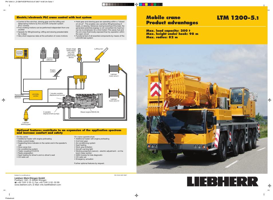 Liebherr LTM 1200-5 1 User Manual | 11 pages