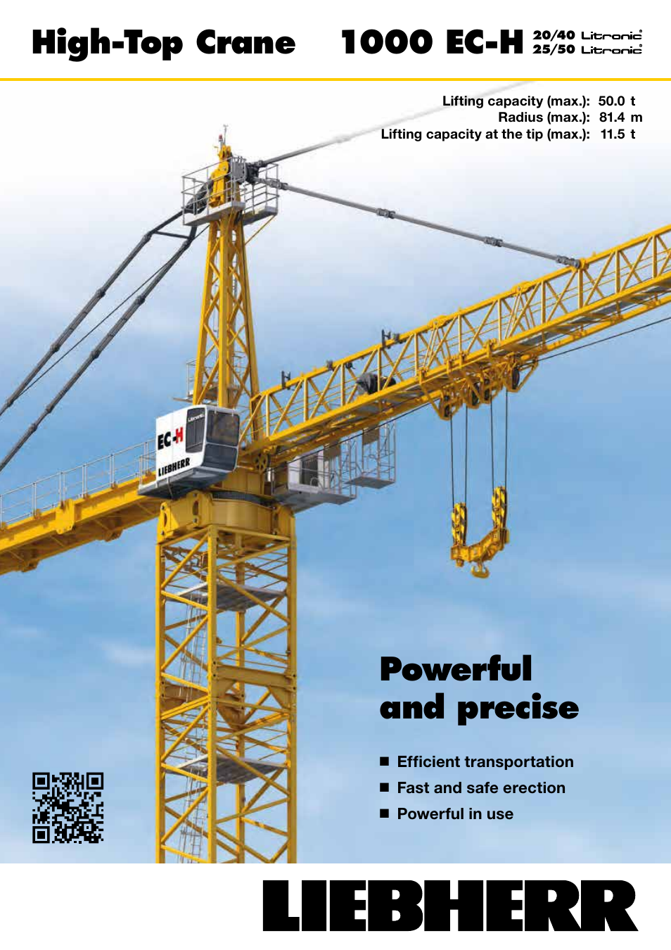 Liebherr 1000 Ec H 50 Litronic User Manual 4 Pages