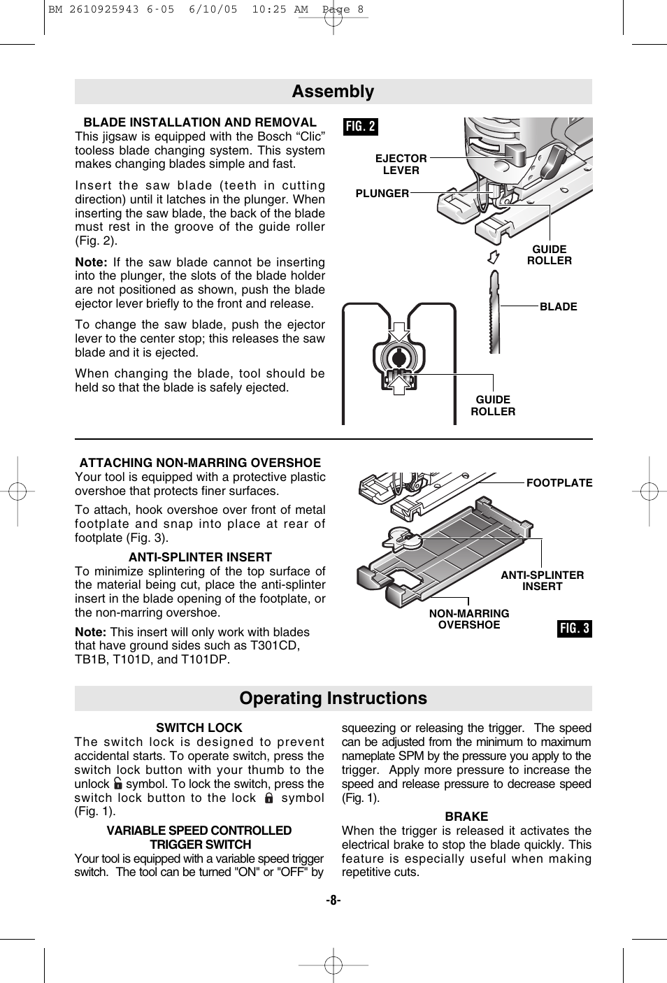 Operating instructions assembly bosch 52318 user manual page 8 44 greentooth Gallery