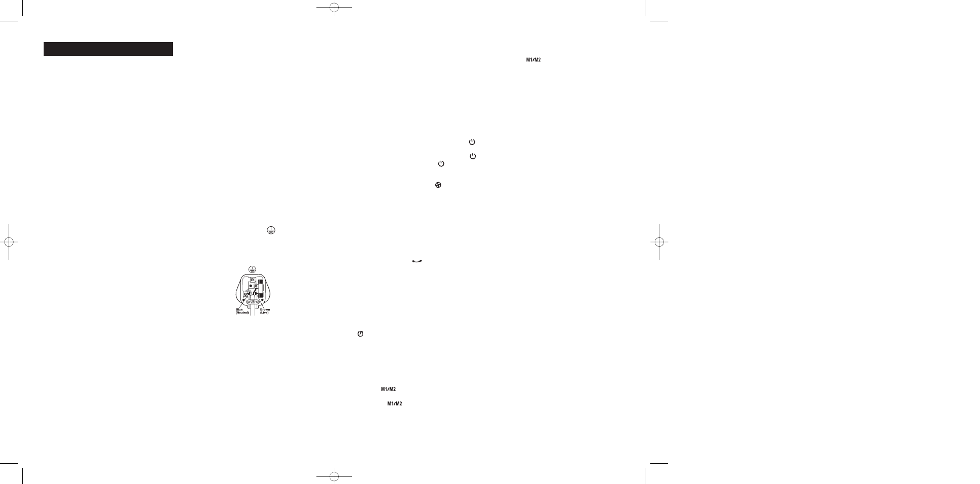 Uk And Ireland Bionaire Pedestal Bt05rc User Manual Page 3 19 Wiring Diagram