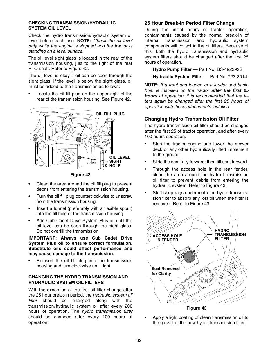 Cub Cadet 5264D User Manual   Page 32 / 48